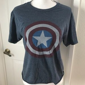 Marvel Captain America T-Shirt Sz Small